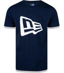 camiseta flag frontal marinho new era - masculino