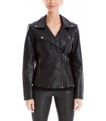 women's leatherette moto jacket (67% off) - comparable value $120