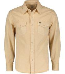 wrangler overhemd - modern fit - beige