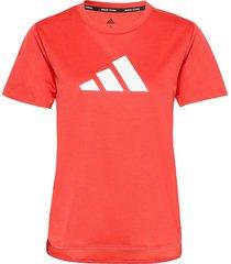 3 bar logo t-shirt t-shirts & tops short-sleeved röd adidas performance