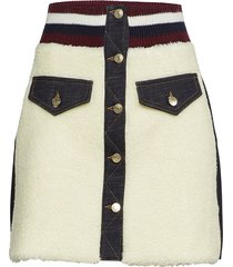 winter denim mini skirt kort kjol creme hilfiger collection