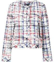 rag & bone classic tweed jacket - white