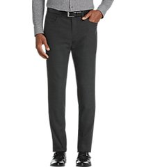 joe joseph abboud charcoal gray extreme slim fit dress pants