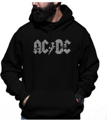 la pop art men's ac/dc word art hooded sweatshirt