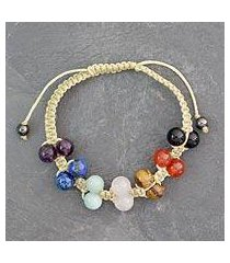 gemstone chakra bracelet, 'inner balance' (india)