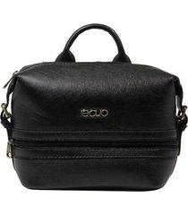 bolsa mochila de couro recuo fashion bag preto