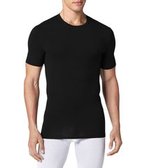 men's tommy john cool cotton crewneck undershirt, size large - black