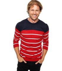 sweater rojo crow tricolor