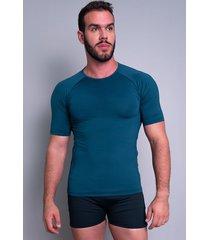 camisa térmica mvb modas masculina manga curta segunda pele azul