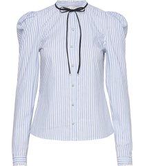 raima blouse lange mouwen blauw custommade
