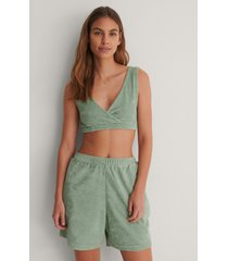 na-kd reborn ekologiska shorts - green