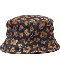 axel' leopard printed bucket hat