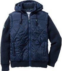 giacca con maniche in maglia (blu) - john baner jeanswear