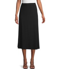 eileen fisher women's flare skirt - black - size m