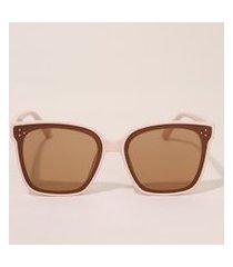 óculos de sol feminino quadrado yessica bege