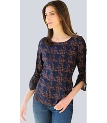 blouse alba moda cognac::marine