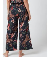 desmond & dempsey women's soleia wide leg trousers - navy - m