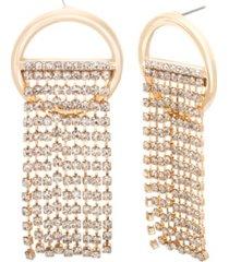 steve madden chain ring post earring