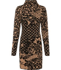 abito in maglia a collo alto (marrone) - bodyflirt boutique