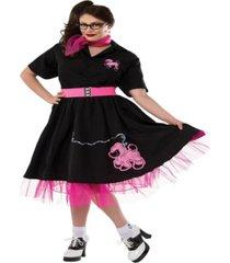buyseason women's complete poodle skirt costume