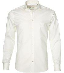 sale - ledub party overhemd - body fit - ecru