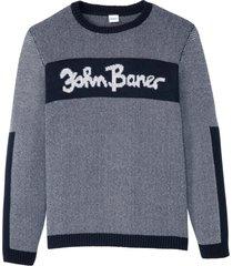 maglione con scollo rotondo (blu) - john baner jeanswear