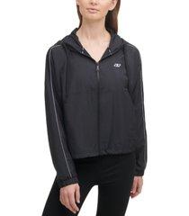 dkny sport women's zippered hooded jacket