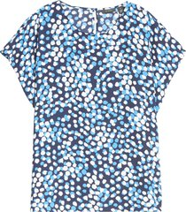 plus size women's halogen cap sleeve blouse, size 2x - blue