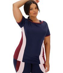 color block double layer top