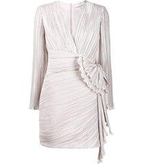 draped detail pleated dress