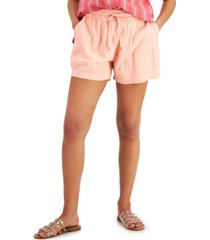 style & co petite drawstring shorts, created for macy's
