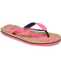 printed cork flip flop shoes summer shoes flip flops rosa superdry
