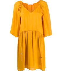 dorothee schumacher gathered swing dress - yellow