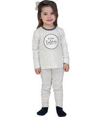 pijama baby look dujour lua luá branco