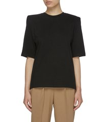 'carrington' padded shoulder cotton jersey t-shirt