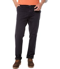 pantalon azul navy preppy chino 98% algodón 2% elastano bota 19