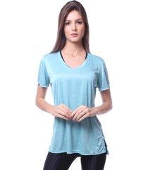 blusa simony lingerie camiseta melange frais azul