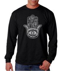 la pop art men's word art long sleeve t-shirt - hamsa