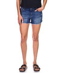 women's dl1961 karlie cutoff denim boyfriend shorts, size 32 - blue