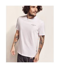 "camiseta masculina birden  go with the flow"" manga curta gola careca branca"""
