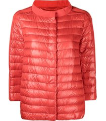 herno press-stud puffer jacket - red