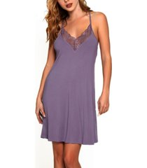 women's racer back lace chemise nightgown