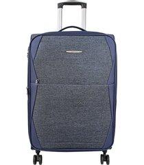 "maleta de viaje mediana rayo 24"" azul - explora"