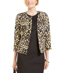 kasper open-front animal-print jacket