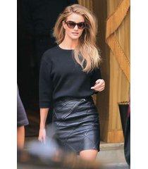 new designer tailor made soft lambskin leather pencil skirt for women 184
