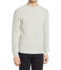men's a.p.c. men's ludo fisherman sweater, size large - white