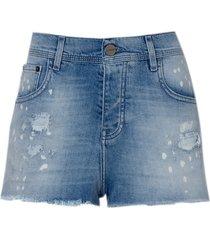 shorts le lis blanc boyfriend blue feminino (blue, 50)