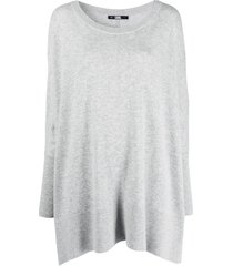 karl lagerfeld lounge merino-knit tunic - grey