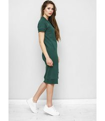dzianinowa sukienka maurice w butelkowej zieleni