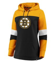 majestic boston bruins women's colorblocked fleece sweatshirt